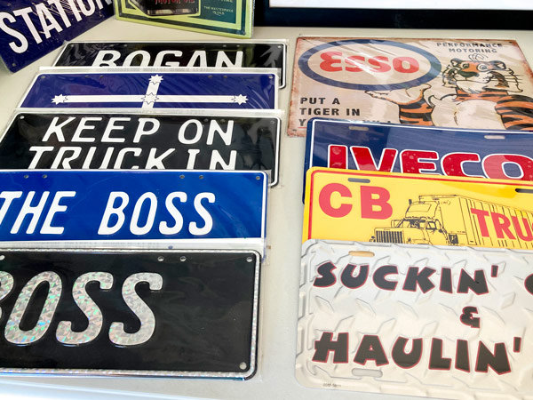 Number plates merchandise for Winton's Heritage Truck and Machinery Museum